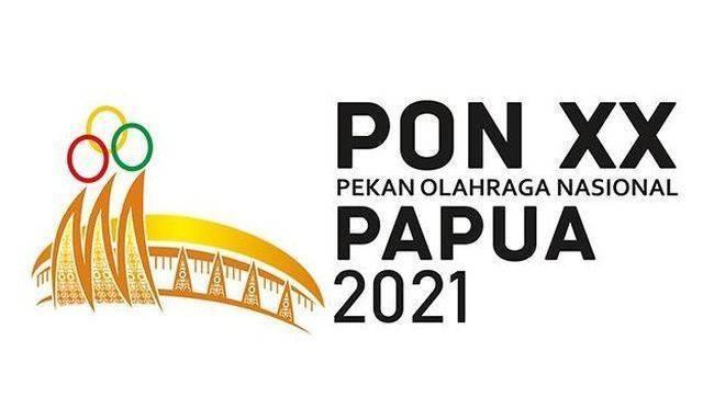 Ilustrasi klasemen sementara perolehan medali dan logo event PON XX Papua. (Foto: PON XX Papua) tugu jatim