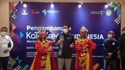 Sandiaga Uno, Menparekraf RI saat menghadiri workshop KaTa Kreatif di Kota Malang, Sabtu (16/10/2021). (Foto: M Sholeh/Tugu Malang/Tugu Jatim)