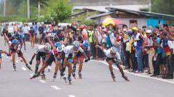 Para atlet sepatu roda tengah berkompetisi di PON XX Papua. (Foto: Dokumen) tugu jatim